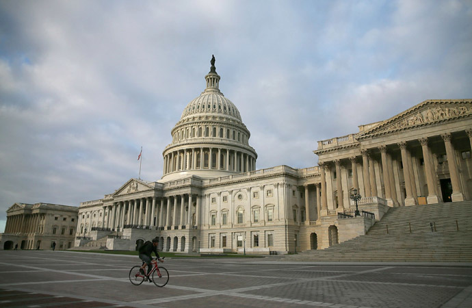 Congress Convenes On Columbus Day As Government Shutdown Continues
