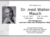 In memoriam Dr. Walter Mauch