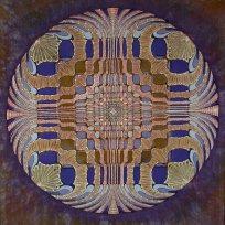 Batik W. B. Probst 1973 Der gemeinsame Aufstieg