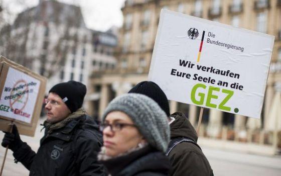 Demonstration gegen Rundfunkgebühren