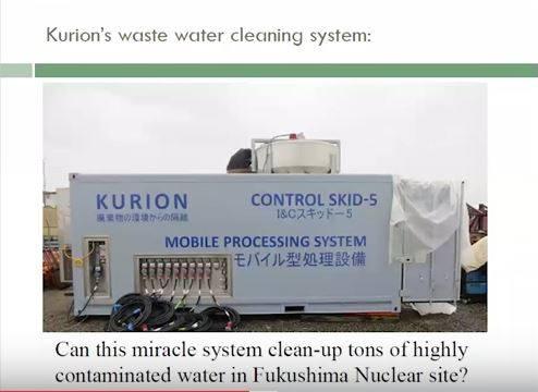 Hier ein Bild eines ihrer mobilen Geräte. Es ist nicht grösser als ein gängiger Bahn- oder Schiffscontainer und soll Millionen von Litern verseuchten Wassers reinigen können.