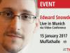 Edward Snowden und andere am 15. Januar 2017 live inMünchen