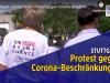 Stuttgart: Hunderte bei Protest gegen Corona-Beschränkungen