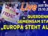 Live aus Berlin: Protestmarsch und Demo – wir alle zusammen in Frieden | WHS Gipfel |25.10.2020