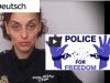 Pandemie? Die spanische Polizistin Sonia Vescovacci, spanische Polizistin, sagt uns ihreMeinung